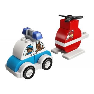 LEGO DUPLO 10957 Hasičský vrtuľník a policajné auto