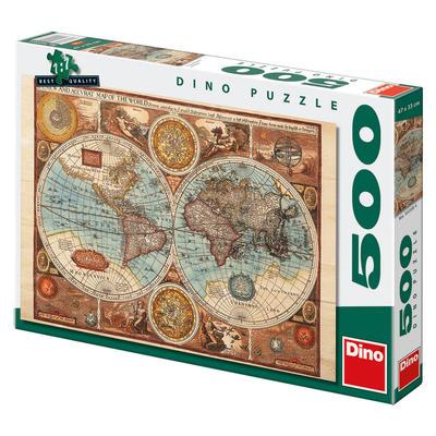 Dino Mapa sveta z roku 1626 500