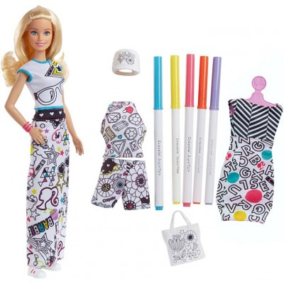 Mattel Barbie D.I.Y. Crayola Vyfarbovania šiat beloška