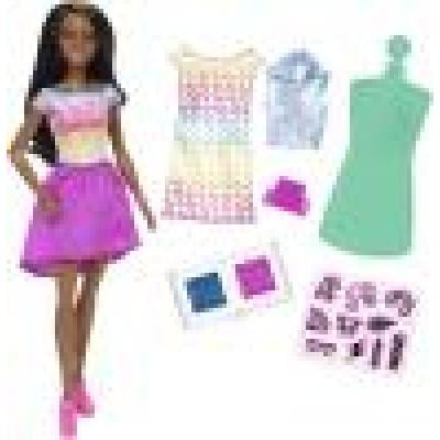 Mattel Barbie D.I.Y. Crayola s módnou potlačou Černoška