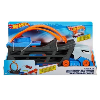 Hot Wheels Ťahač a pojazdná dráha