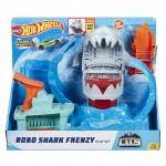 Hot Wheels City Color Shifters Robo žralok útočí