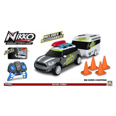 Nikko Mini Countryman s karavanom šedý RC