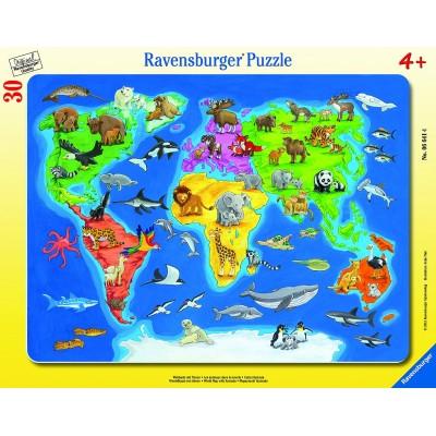 Ravensburger Mapa sveta so zvieratami 30