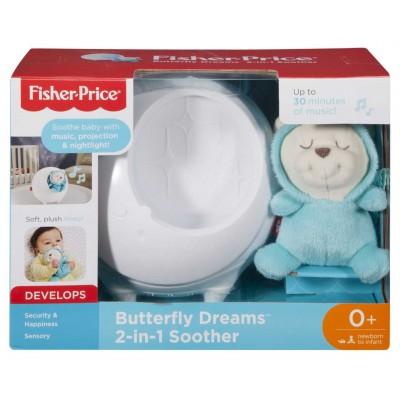 Fisher Price Projektor s motýlím kamarátom pre pokojné sny